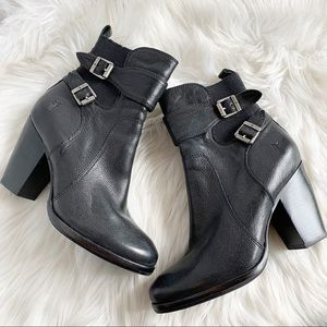 {NEW} FRYE • Black Leather Ankle Booties • Sz 8M